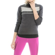 Lole Tierra Mock Neck Sweater (For Women) in Dark Charcoal - Closeouts