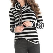 Lole Tiffany Shirt - TENCEL®, Long Sleeve (For Women) in Black Stripe - Closeouts