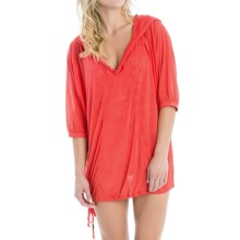 Lole Tilda Hooded Swimsuit Cover-Up - Elbow Sleeve (For Women) in Bittersweet - Closeouts