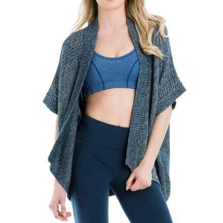 Lole Toni Cardigan Sweater - Open Front, Elbow Sleeve (For Women) in Dark Denim - Closeouts