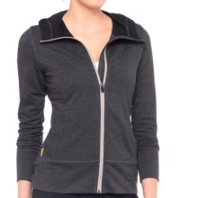 Lole Unite Hoodie Cardigan Sweater - Zip Front (For Women) in Black Heather - Closeouts