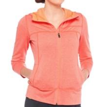Lole Unite Hoodie Cardigan Sweater - Zip Front (For Women) in Mandarino Heather - Closeouts