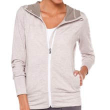 Lole Unite Hoodie Cardigan Sweater - Zip Front (For Women) in Morel Heather - Closeouts