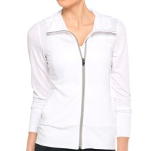 Lole Unite Hoodie Cardigan Sweater - Zip Front (For Women) in White - Closeouts