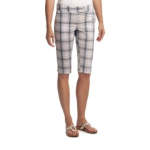 Lole Waggle Walk Bermuda Shorts - UPF 50+ (For Women) in Ocean Plaid - Closeouts