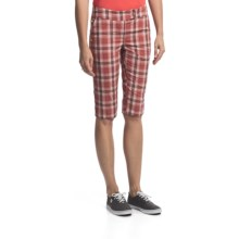 Lole Waggle Walk Bermuda Shorts - UPF 50+ (For Women) in Raspberry Plaid - Closeouts