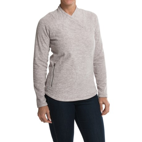Lole Warm Shirt - Fleece, UPF 50+, Long Sleeve (For Women) in G398 Warm Grey Mix