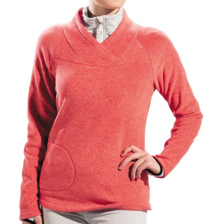 Lole Warm Shirt - Fleece, UPF 50+, Long Sleeve (For Women) in Tango Heather