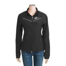 Lole Windproof Delight Jacket - UPF 50+, Zip-Off Sleeves (For Women) in Black/Black - Closeouts