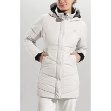 Lole Zoa Twill Jacket - Insulated (For Women) in White/Light Grey Monogram - Closeouts