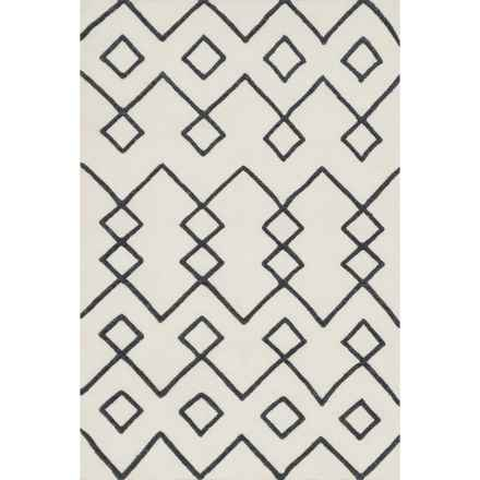 """Loloi Adler Accent Rug - 3'6""""x5'6"""", Hand-Woven Wool in Ivory - Closeouts"""