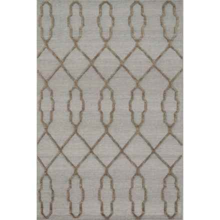 "Loloi Adler Accent Rug - 3'6""x5'6"", Handwoven Wool in Slate - Closeouts"