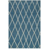 "Loloi Adler Collection Azure Scatter Accent Rug - 3'6""x5'6"", Handwoven Wool"