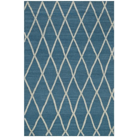 """Loloi Adler Collection Azure Scatter Accent Rug - 3'6""""x5'6"""", Handwoven Wool in Azure"""