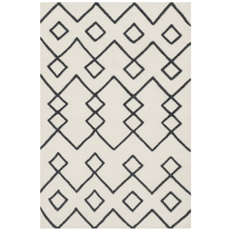 """Loloi Adler Collection Ivory Scatter Accent Rug - 3'6""""x5'6"""", Handwoven Wool in Ivory"""