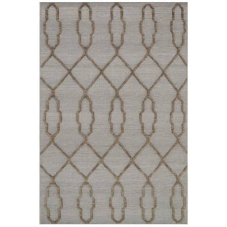 """Loloi Adler Collection Slate Scatter Accent Rug - 3'6""""x5'6"""", Handwoven Wool in Slate"""