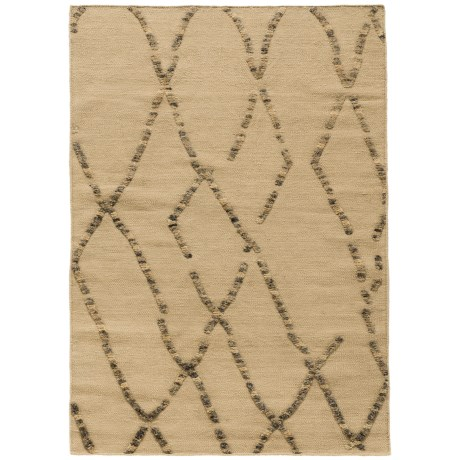 "Loloi Adler Collection White Sand Scatter Accent Rug - 3'6""x5'6"", Wool in White Sand"