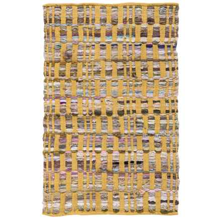 "Loloi Aiden Handwoven Cotton Accent Rug - 2'3""x3'9"" in Yellow - Closeouts"
