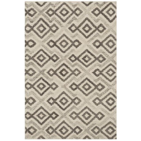 "Loloi Akin Collection Ivory and Grey Scatter Accent Rug - 3'6""x5'6"", Handwoven Wool in Ivory/Grey"