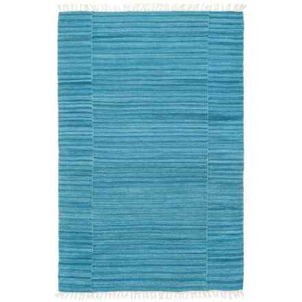 """Loloi Anzio Accent Rug - 3'6""""x5'6"""", Handwoven Wool in Blue - Closeouts"""