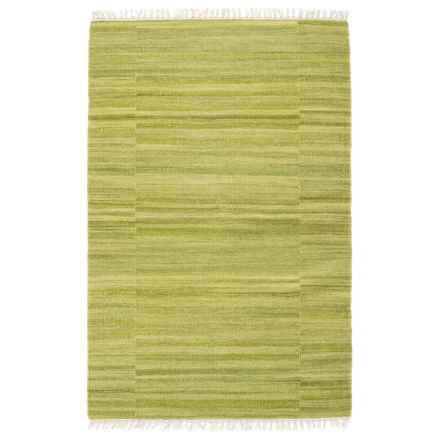 "Loloi Anzio Accent Rug - Handwoven Wool, 3'6""x5'6"" in Apple Green - Closeouts"