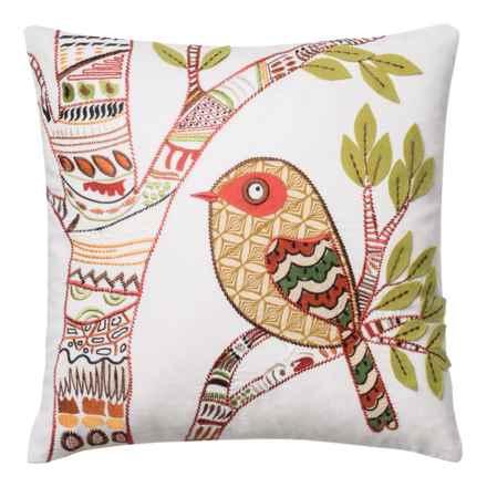 """Loloi Bird Decor Pillow - 18x18"""" in Multi - Closeouts"""