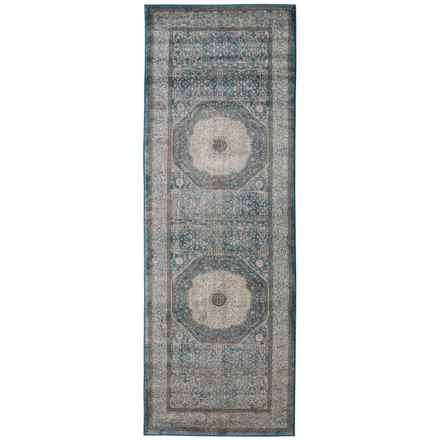 "Loloi Blue-Sand Vintage-Look Floor Runner - 2'8""x7'6"" in Blue / Sand - Closeouts"