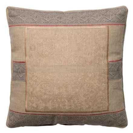 """Loloi Border Decor Pillow - 22x22"""" in Beige Blue - Closeouts"""