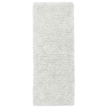 """Loloi Brunswick Collection Bath Rug - 22x60"""" in White - Closeouts"""