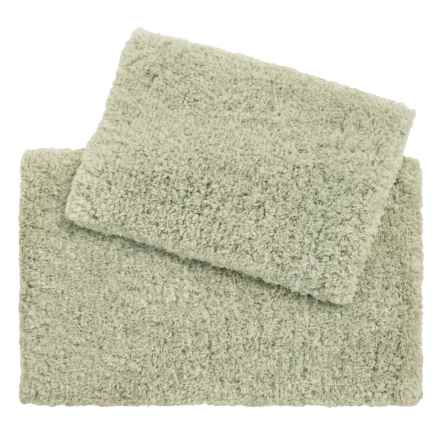 Loloi Brunswick Collection Bath Rug - Set of 2 in Light Green - Closeouts