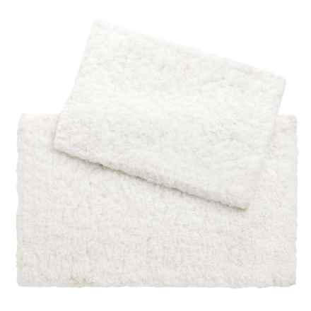 Loloi Brunswick Collection Bath Rug - Set of 2 in White - Closeouts