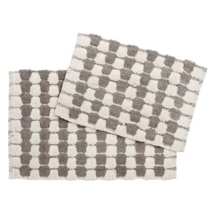 loloi colby collection bath rugs set of 2 in greycream closeouts