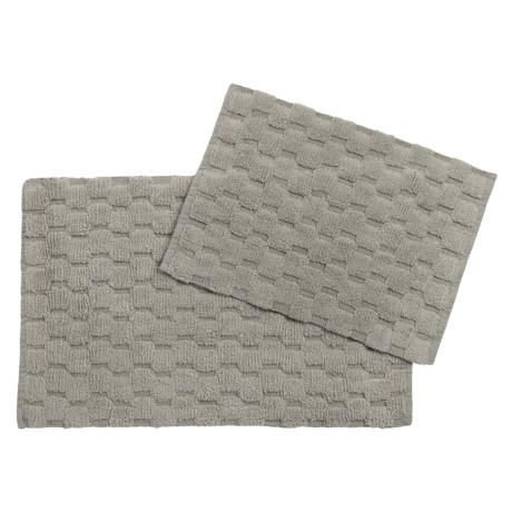 Loloi Colby Collection Bath Rugs - Set of 2 in Grey
