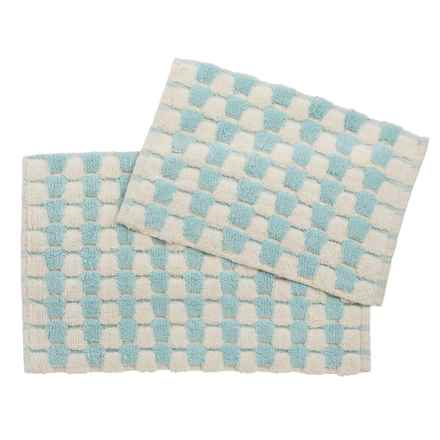 Marvelous Loloi Colby Collection Bath Rugs   Set Of 2 In Light Blue/Cream   Closeouts