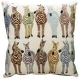 "Loloi Cotton Multi-Zebra Decor Pillow - 18x18"""