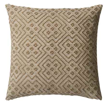 """Loloi Deco Indoor/Outdoor Decor Pillow - 22"""" in Charcoal/White - Closeouts"""