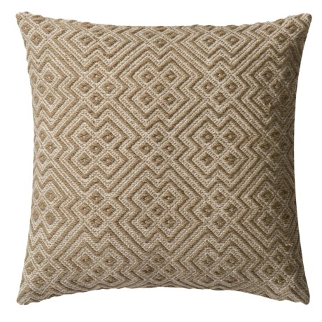 """Loloi Deco Indoor/Outdoor Decor Pillow - 22"""" in Charcoal/White"""