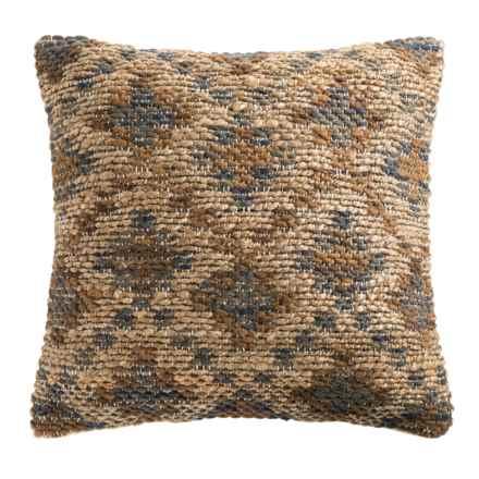 """Loloi Diamond Decor Pillow - 22x22"""" in Brown Beige - Closeouts"""