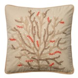 Loloi Embroidered Branch Decor Pillow - 22x22""