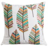 """Loloi Embroidered Feather Decor Pillow - 22x22"""""""