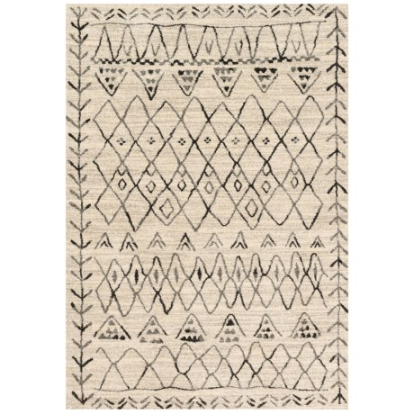 """Loloi Emory Collection Heather Gray and Black Scatter Accent Rug - 3'10""""x5'7"""" in Heather Gray/Black"""