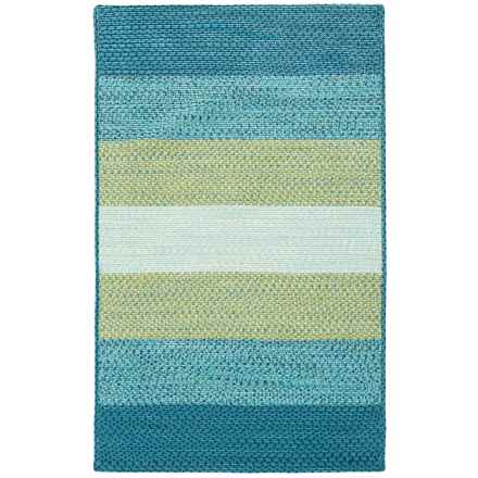 "Loloi Garrett Indoor-Outdoor Braided Accent Rug - 3'6""x5'6"" in Blue/Green - Closeouts"