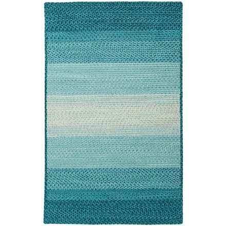 "Loloi Garrett Indoor-Outdoor Braided Accent Rug - 3'6""x5'6"" in Blue - Closeouts"