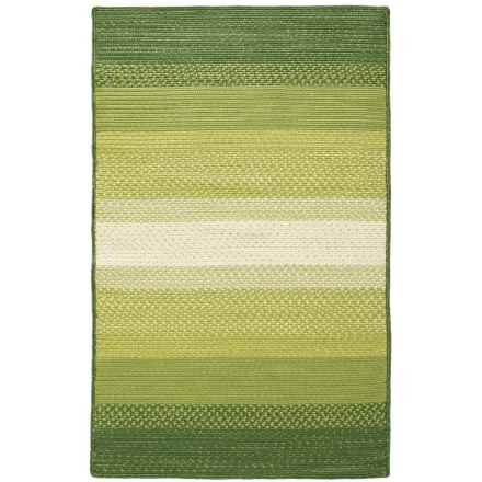 "Loloi Garrett Indoor-Outdoor Braided Accent Rug - 3'6""x5'6"" in Green - Closeouts"