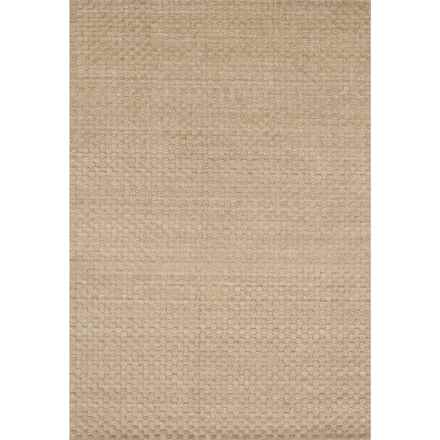 "Loloi Hadley Area Rug - 7'6""x9'6"", Hand-Loomed Wool in Dune - Closeouts"