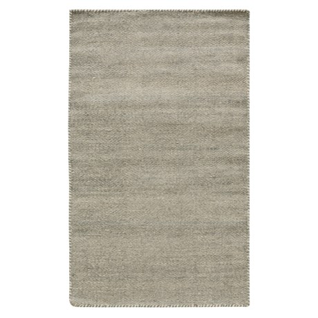 """Loloi Harper Collection Light Blue Scatter Accent Rug - 2'3""""x3'9"""", Wool in Light Blue"""