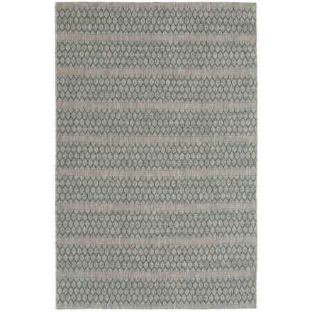 """Loloi Isle Collection Grey and Teal Area Rug - 5'3""""x7'7"""" in Grey/Teal - Closeouts"""