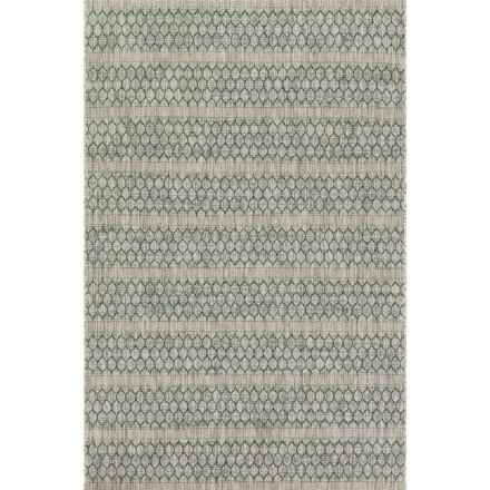 """Loloi Isle Indoor-Outdoor Accent Rug - 2'2""""x3'9"""" in Grey/Teal - Closeouts"""