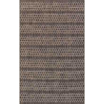 "Loloi Isle Indoor-Outdoor Area Rug - 5'3""x7'7"" in Black/Grey - Closeouts"
