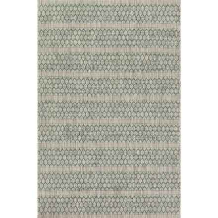 "Loloi Isle Indoor-Outdoor Area Rug - 5'3""x7'7"" in Grey/Teal - Closeouts"